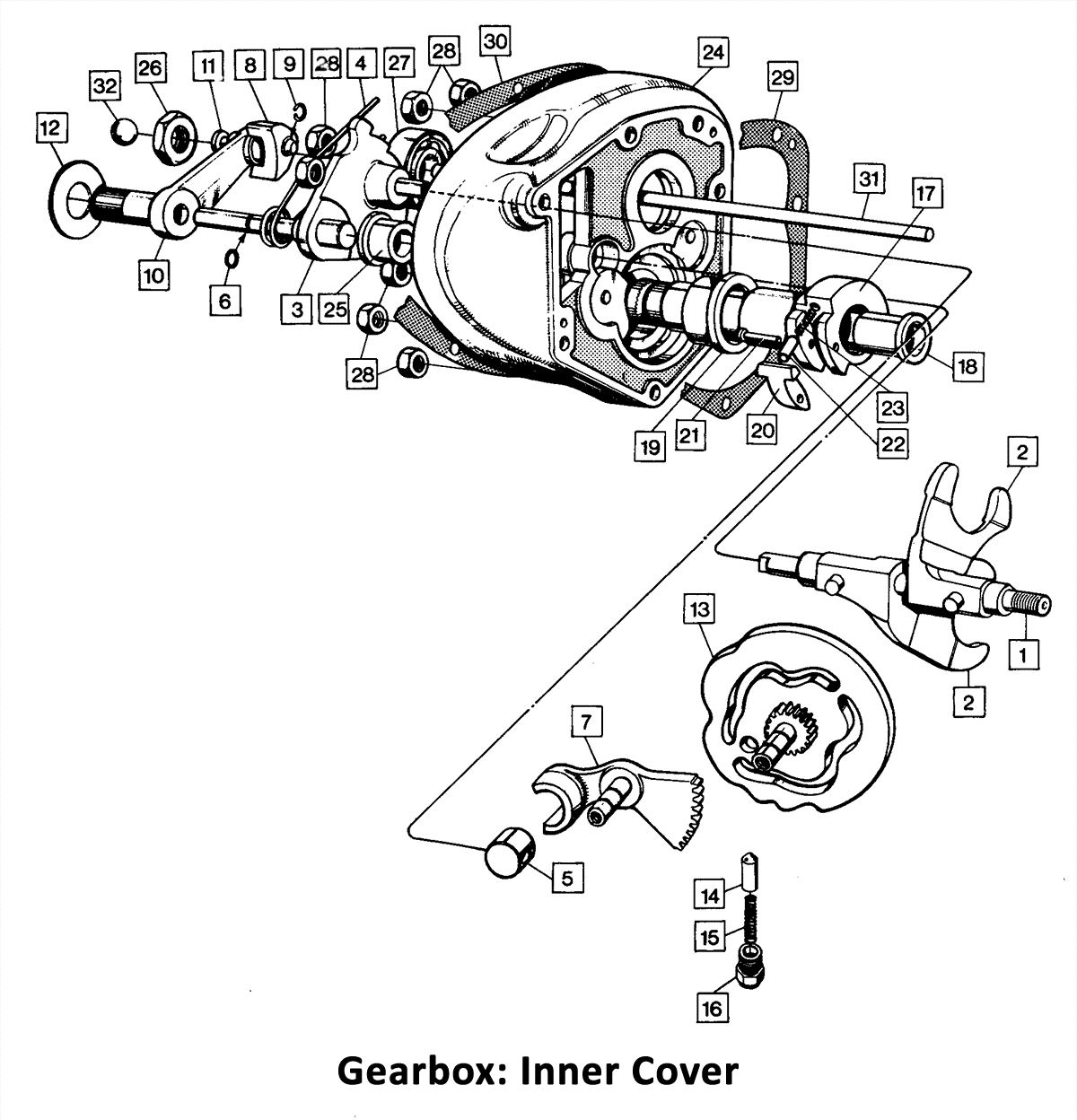 1973-74 Norton Commando 750 & 850 Gearbox: Inner Cover