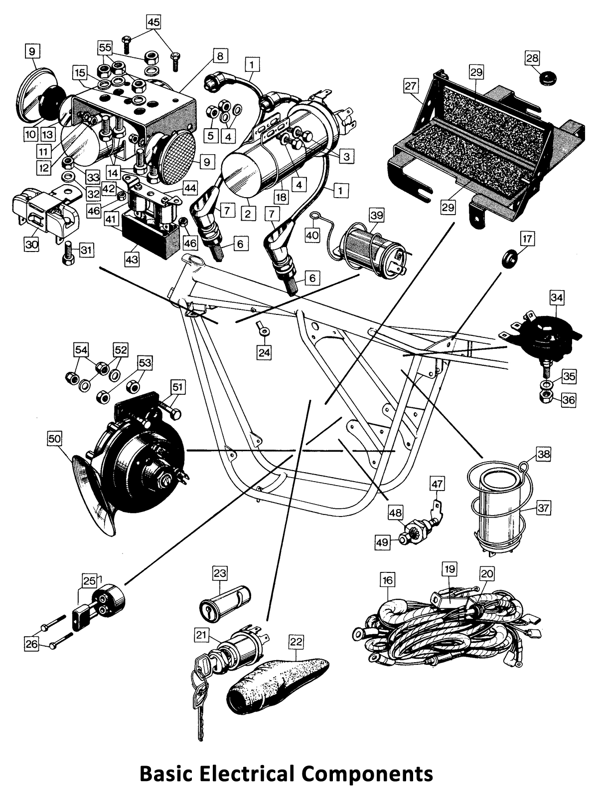 1971 Norton Commando 750 Basic Electrical Components
