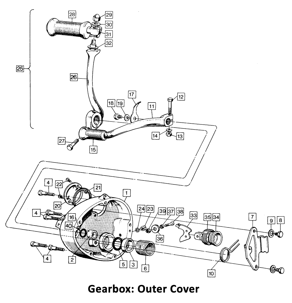 1971 Norton Commando Gearbox Outer Cover -