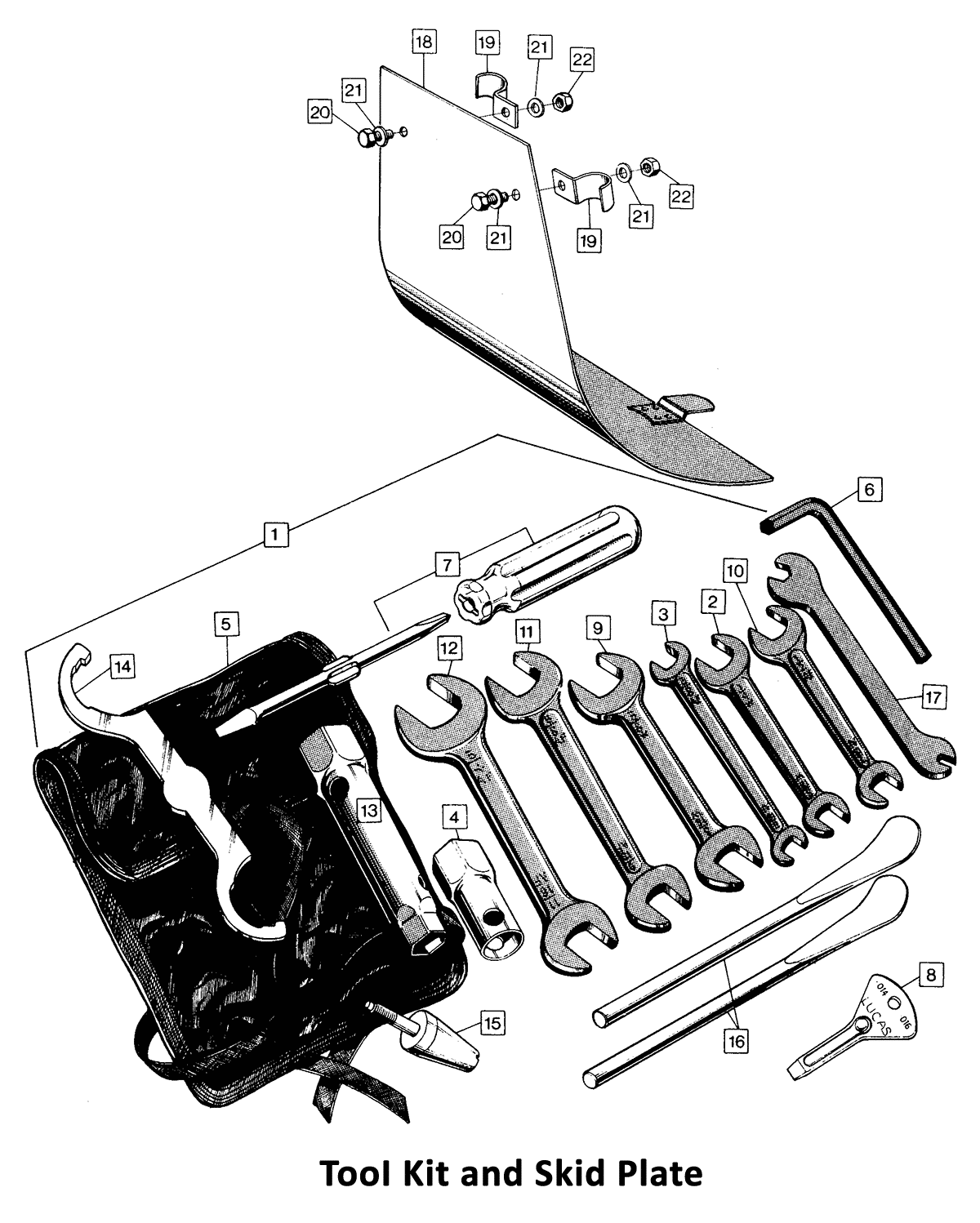 1971 Norton Commando 750 Tool Kit and Skid Plate