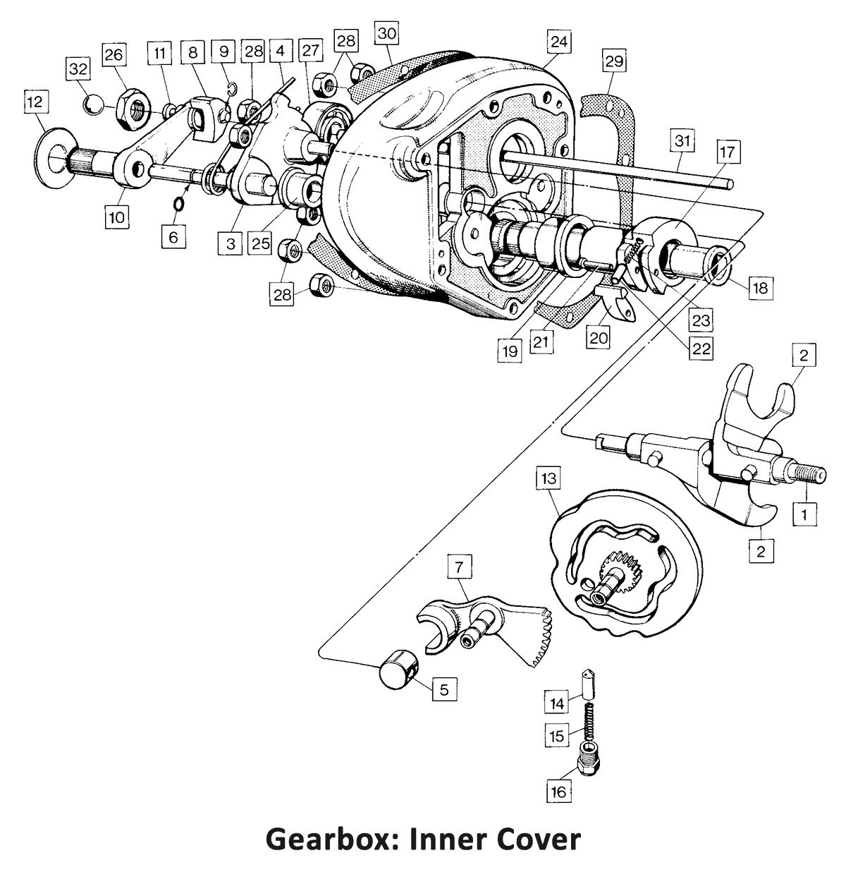 1972 Norton Commando 750 Gearbox: Inner Cover, classic motorbike spares, classic motorbike spare parts, classic motorcycle spares, classic motorcycle spare parts