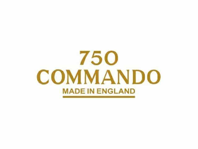 061044 Norton Commando Fastback 750 Commando Made in England transfer