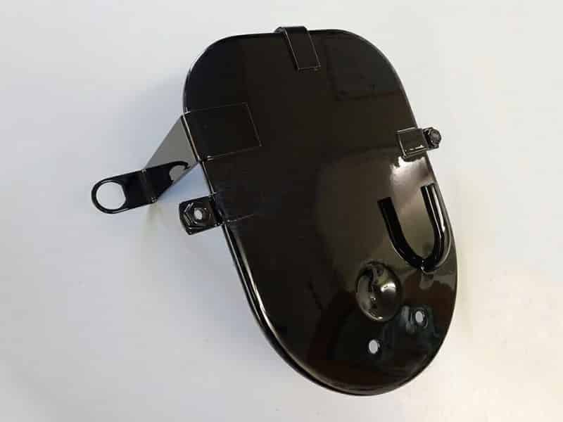 061694 Norton Commando air filter back plate black - Classic Bike Spares
