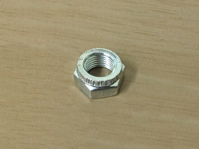 """063024 Cleveloc nut 3/8"""" UNF, thin type - Classic Bike Spares"""