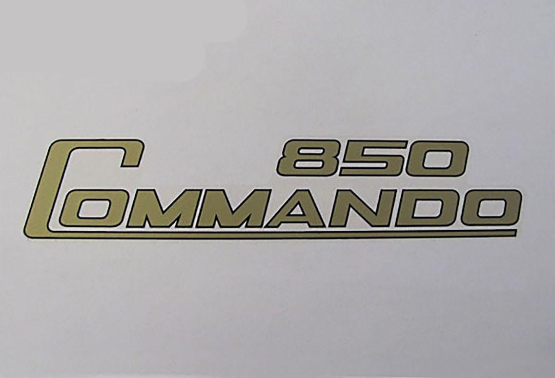 Commando 850 side cover decal - Classic Bike Spares