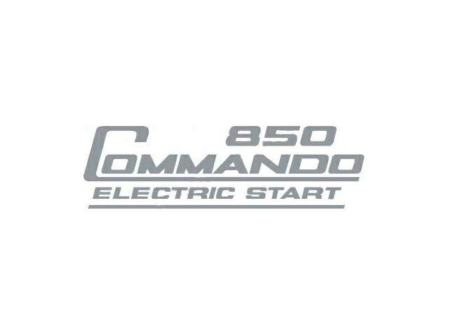 066389 Norton Commando 850 Electric Start side cover transfer silver