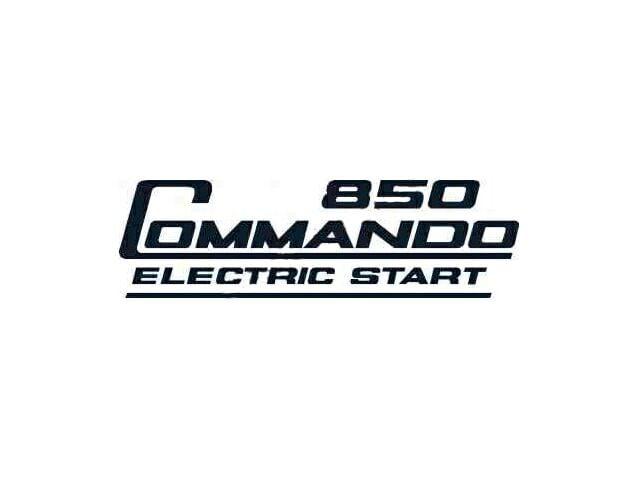 066390 Norton Commando 850 Electric Start side cover transfer black