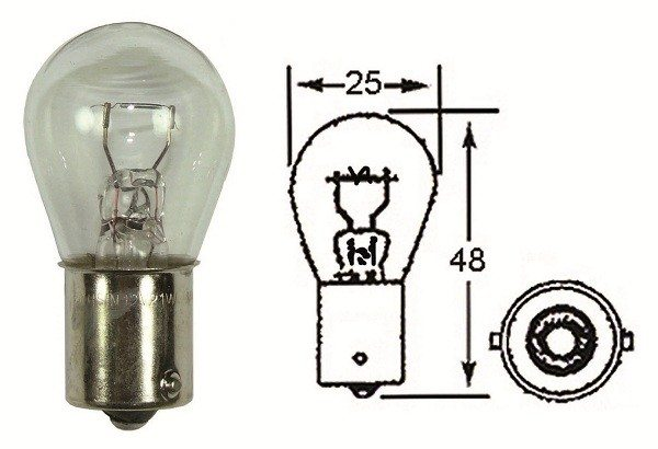 Indicator light bulb, 12 volt, 21 watt - Classic Bike Spares
