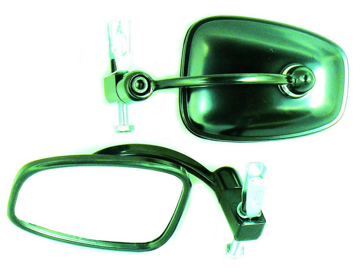Bar end mirror, black - Classic Bike Spares