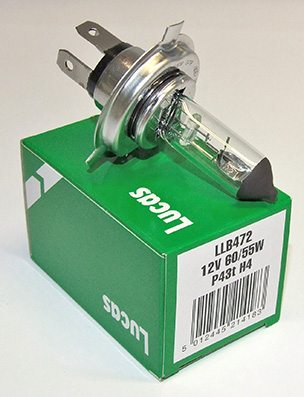 Lucas main bulb, H4 12 volt - Classic Bike Spares