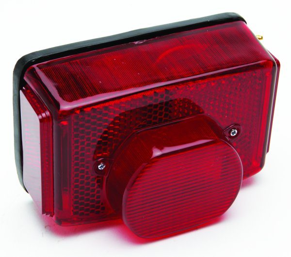 Replica Lucas tail light assembly, square - Classic Bike Spares