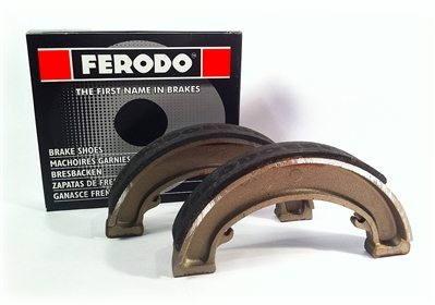 "Front brake shoes, 8"" TLS, Commando - Classic Bike Spares"