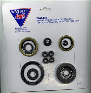 Engine and gearbox oil seal kit, Norton Commando - Classic Bike Spares