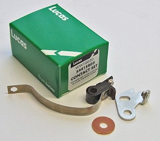 Lucas contact set for side point models, BSA & Triumph - Classic Bike Spares