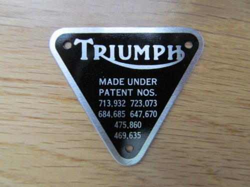 Timing cover name plate, Triumph twins - Classic Bike Spares