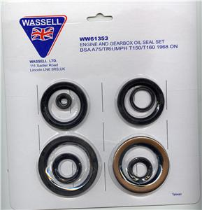 Triumph & BSA engine & gearbox oil seal kit - Classic Bike Spares