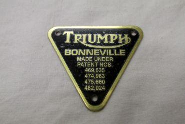 Triumph Bonneville patent plate - Classic Bike Spares