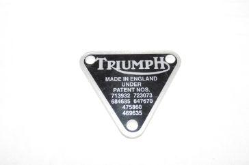 Triumph Trident patent plate - Classic Bike Spares