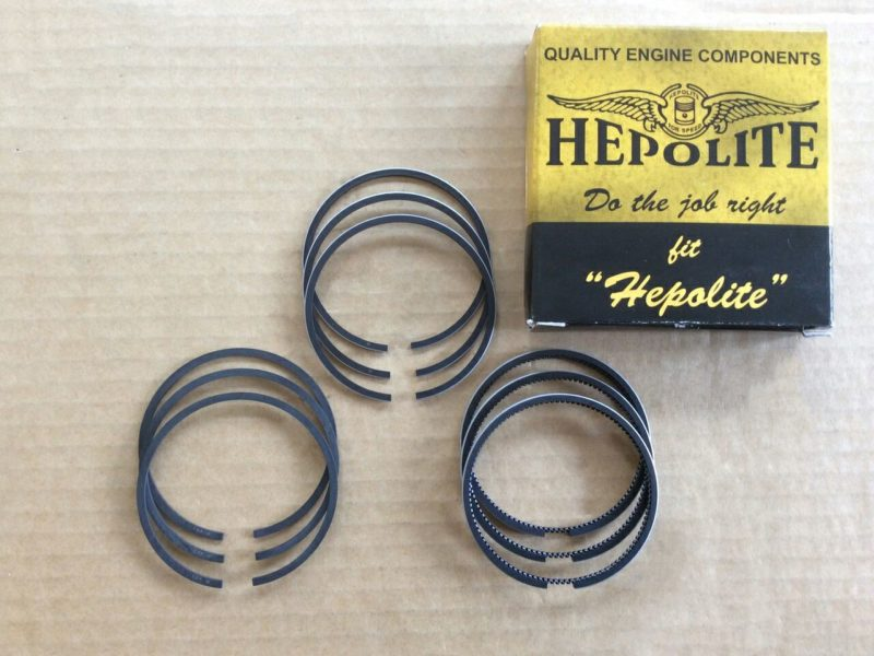 R23020 Hepolite piston ring set, Triumph/BSA triples - Classic Bike Spares