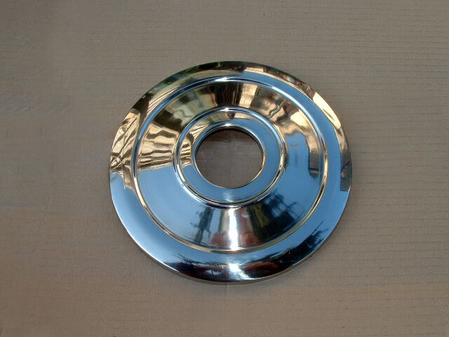 """Triumph stainless steel 8"""" hub cover - Classic Bike Spares"""