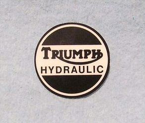Triumph Hydraulic decal - Classic Bike Spares