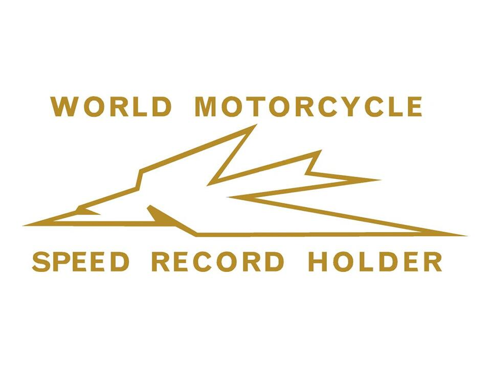 600056 Triumph World Motorcycle Speed Record Holder transfer