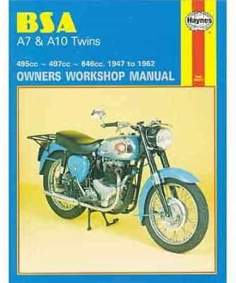 Haynes manual, BSA A7/A10 twins