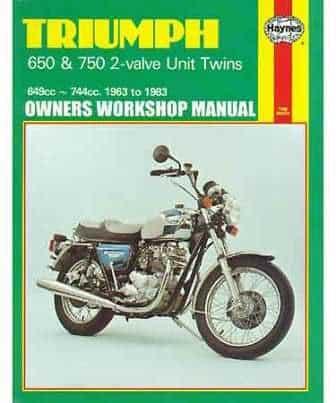 Haynes Manual, Triumph 650 & 750 twins