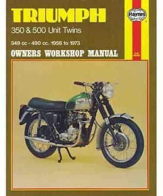 Haynes Manual, Triumph 350/500 Unit twins - Classic Bike Spares