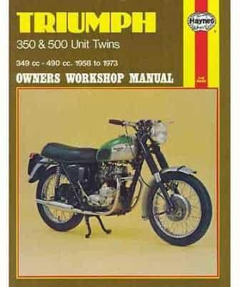 Haynes Manual, Triumph 350/500 Unit twins