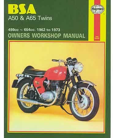 Haynes Manual, BSA A50 & A65 twins