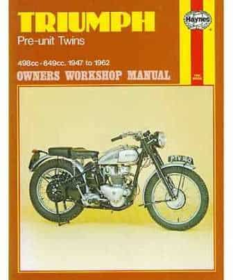 Haynes Manual, Triumph Pre-Unit twins - Classic Bike Spares