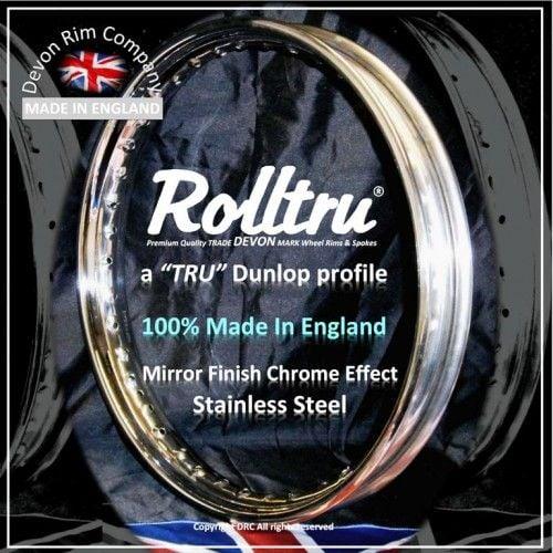 Devon mirror finish stainless steel rim - Classic Bike Spares