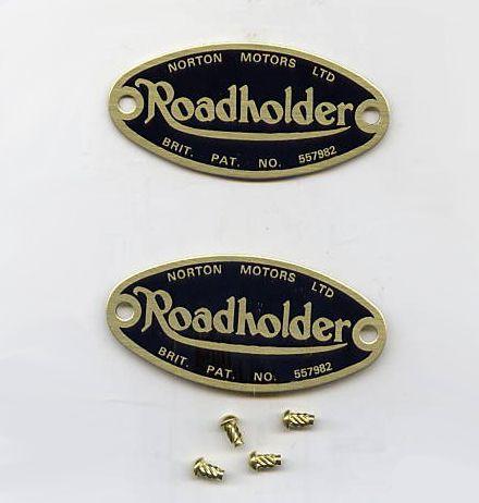 "Norton ""Roadholder"" fork badges - Classic Bike Spares"