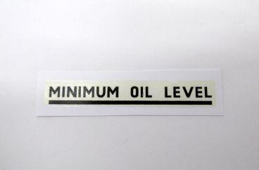 Triumph black minimum oil level transfer - Classic Bike Spares
