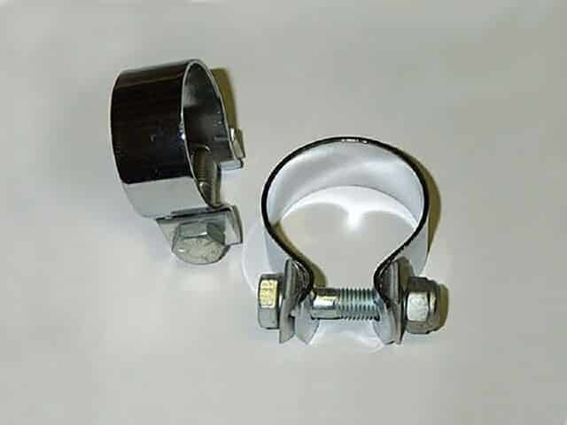 """Muffler clamp assembly 1-1/2"""" - Classic Bike Spares"""