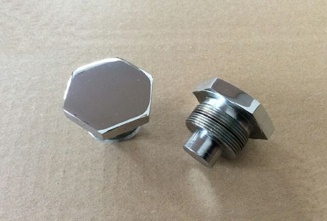 Chrome fork stanchion top nut, Triumph/BSA - Classic Bike Spares