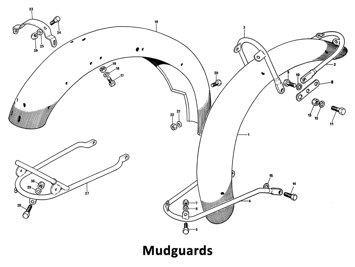 1973 Triumph 750 Twins Mudguards - Classic Bike Spares