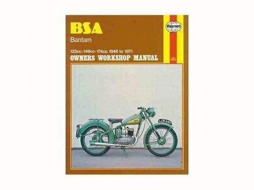 Haynes manual, BSA Bantam - Classic Bike Spares