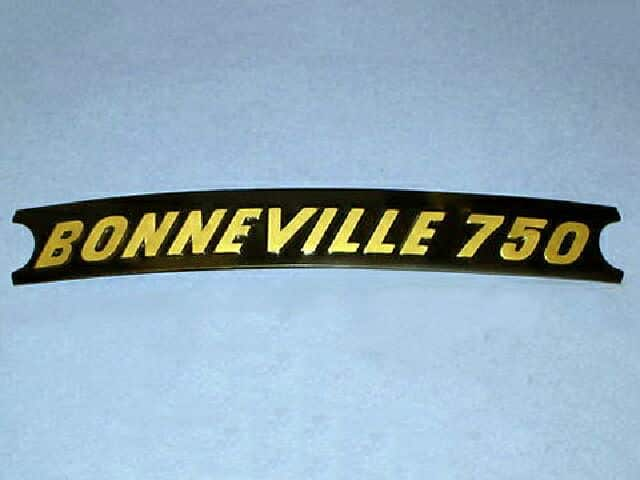 Bonneville 750 side cover decal - Classic Bike Spares