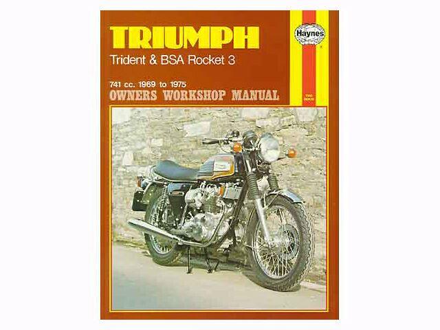Haynes manual for Triumph Trident & BSA Rocket 3
