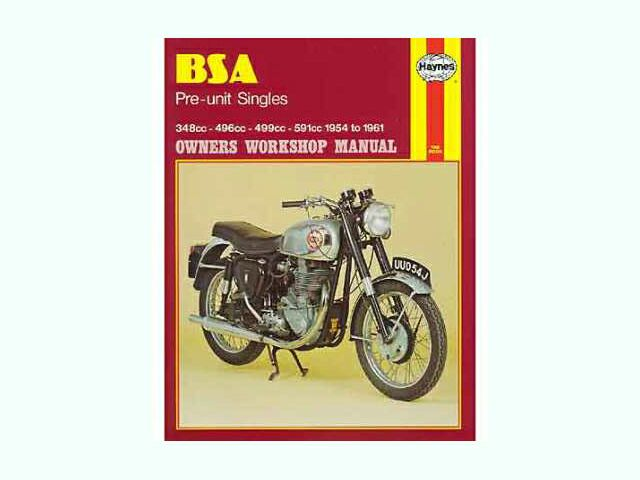 Haynes manual for BSA pre-unit singles 1954-61 - Classic Bike Spares