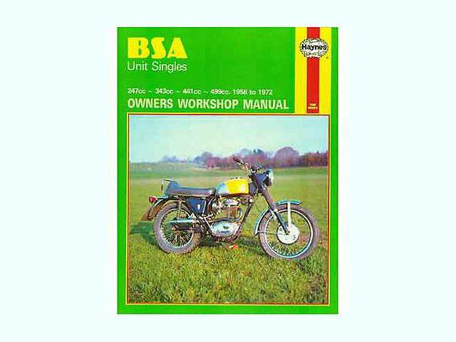 Haynes manual for BSA unit singles 1958-72