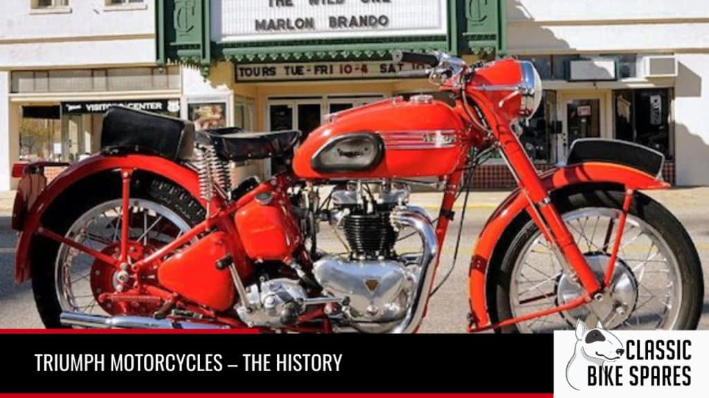 the history o triump motorcycles - Classic Bike Spares