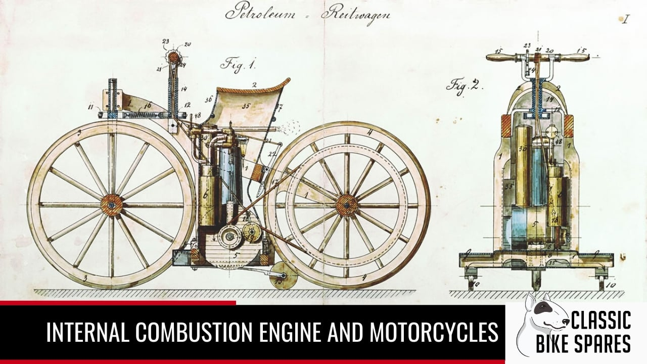 internal combustion of early motorcycles
