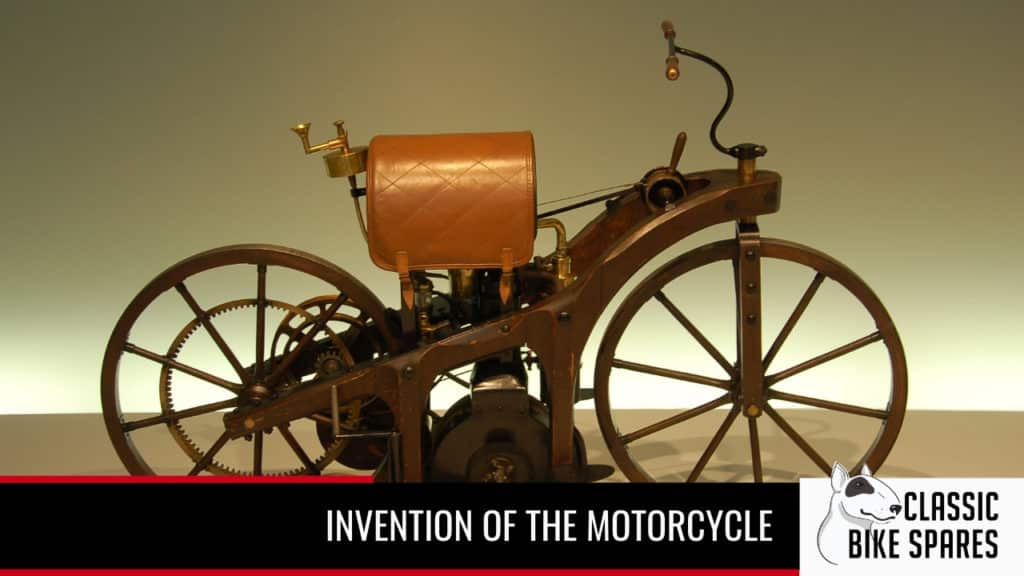 invention of the motorcycle banner - Classic Bike Spares