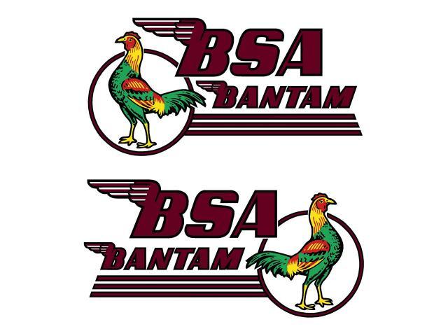 D50082 BSA Bantam petrol tank decals - Classic Bike Spares