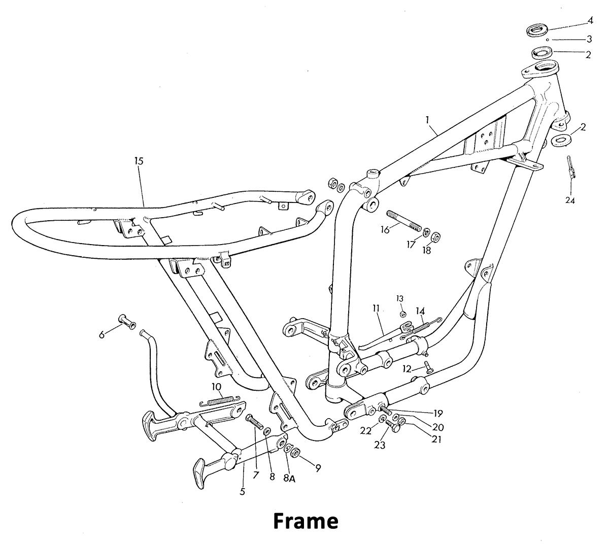 1969 Triumph 650 - Frame