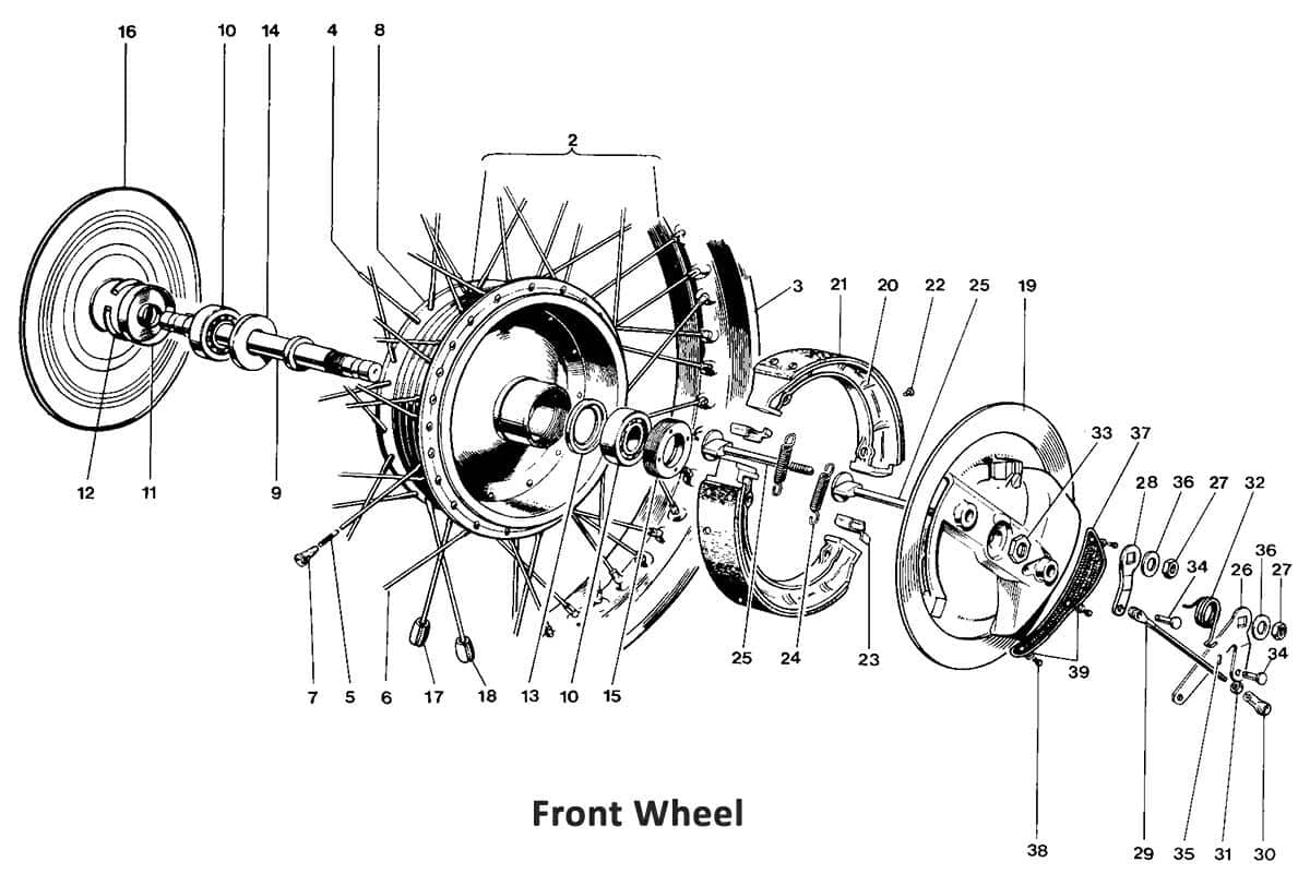Triumph 650 Twins 1969 Front Wheel - Classic Bike Spares