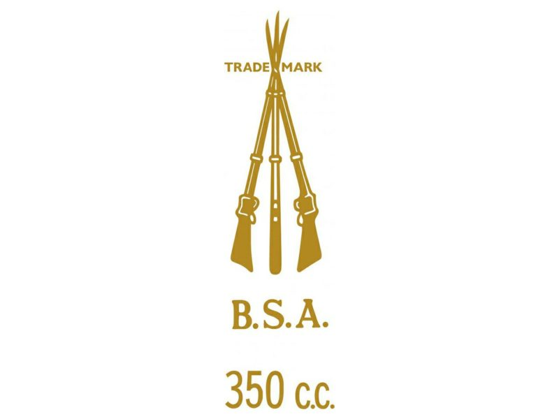 D50136 BSA 350cc piled arms transfer - Classic Bike Spares